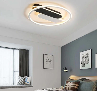 White black modern LED ceiling lights with remote control