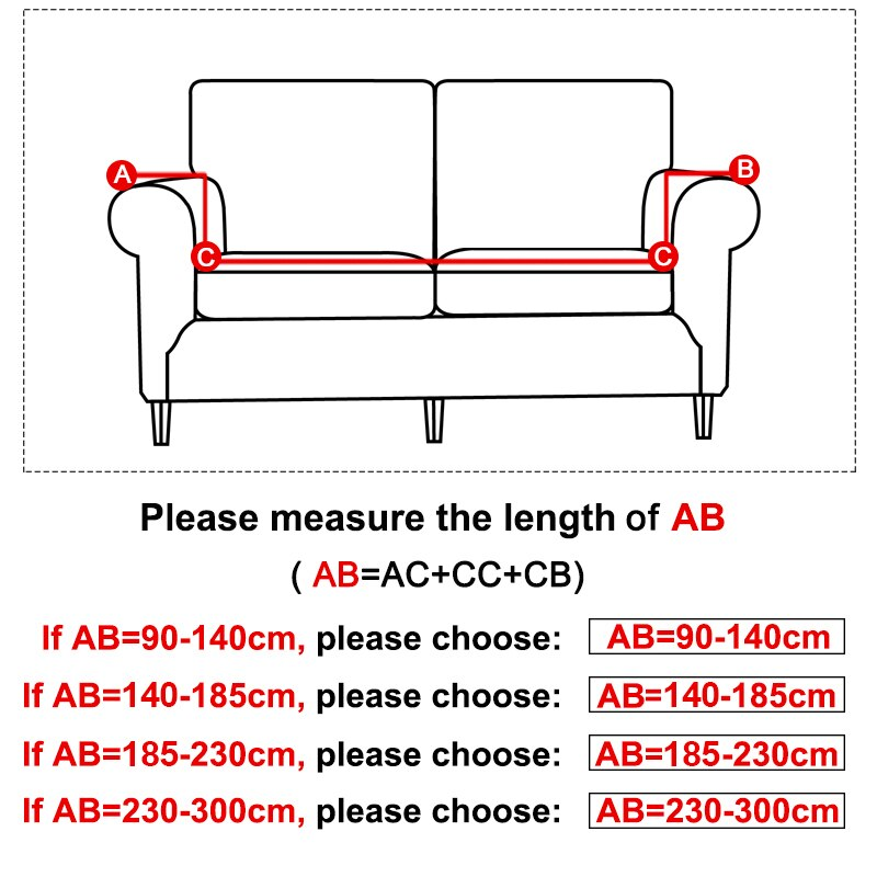 1/2/3/4 Seat Stretch Sofa Cover