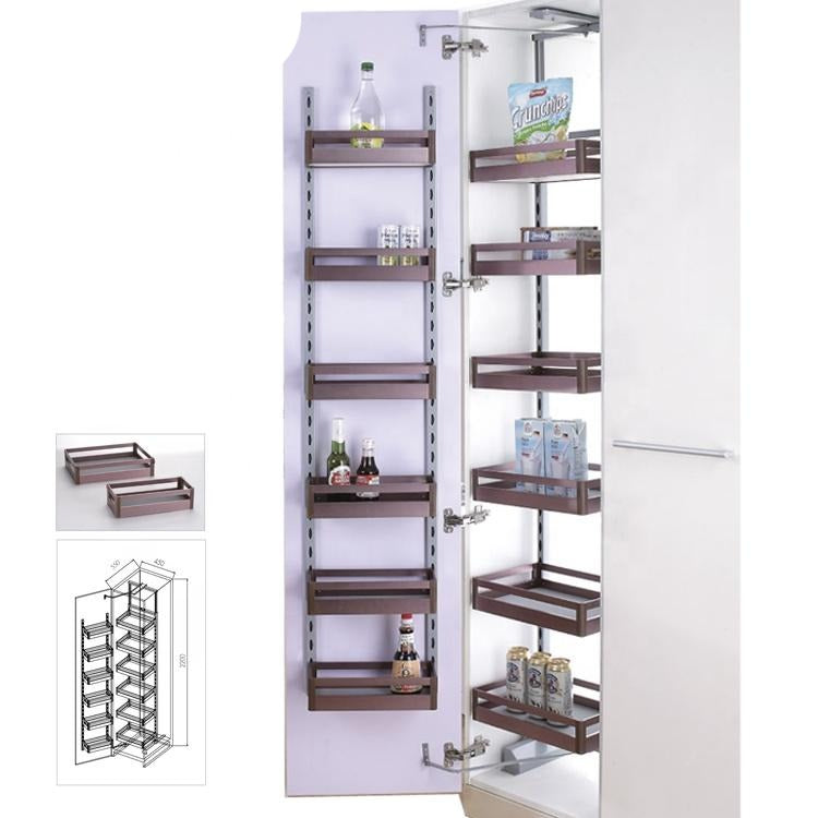 6 layers wire metal pantry storage tall basket for Kenya