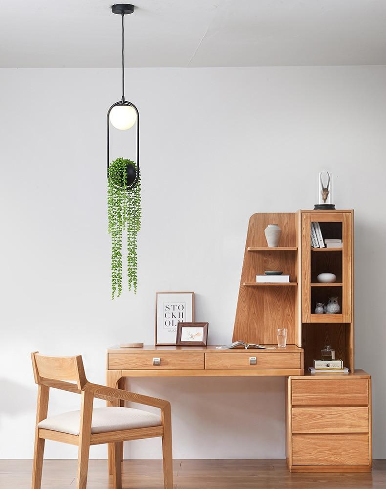 Nordic simple iron Artificial plants Pendant Lights