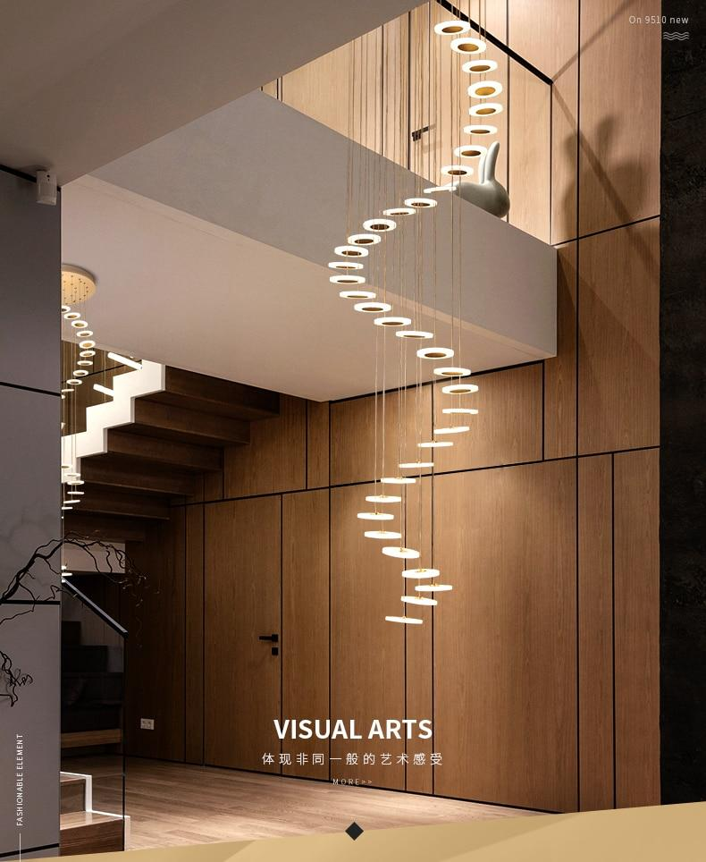 Modern LED living room pendant lamp