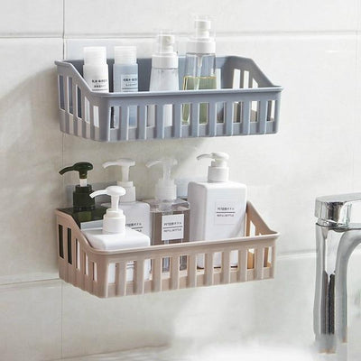 2 Layers Drawer  Bathroom Shampoo Shower Gel Cosmetics Storage Basket