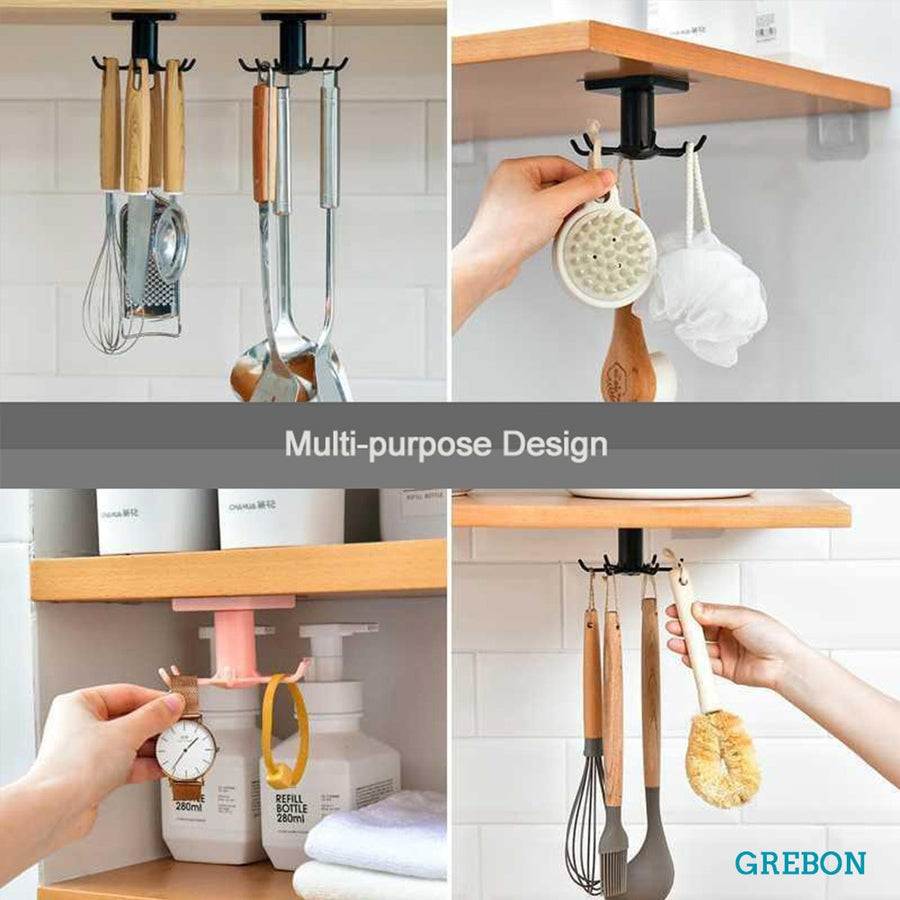 Kitchen hook organizer-Cupboard storage Cabinet shelf