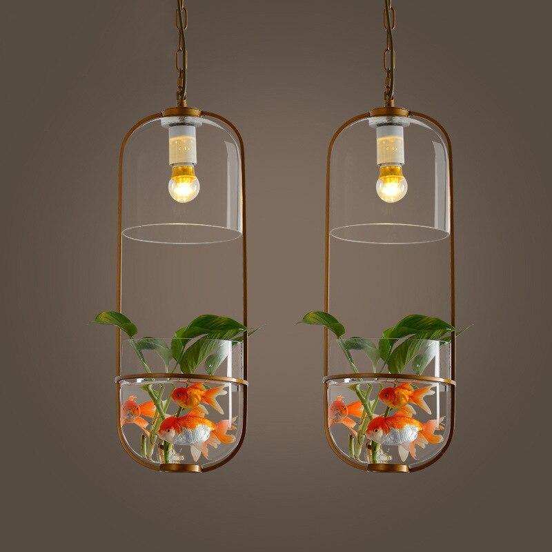 Pastoral Oval Glass Pot Chandelier