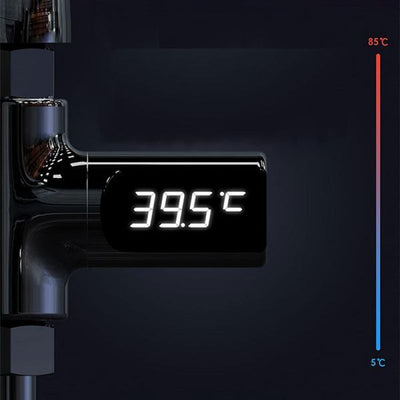LED Digital Shower Thermometer Battery Free