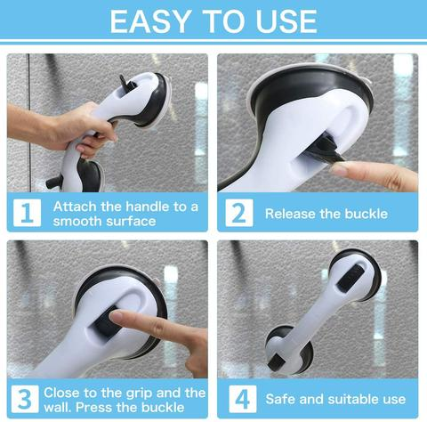 Bathroom Non-slip Safety Handrail Suction Cup