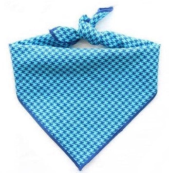 Blue Houndstooth - Dog Bandana