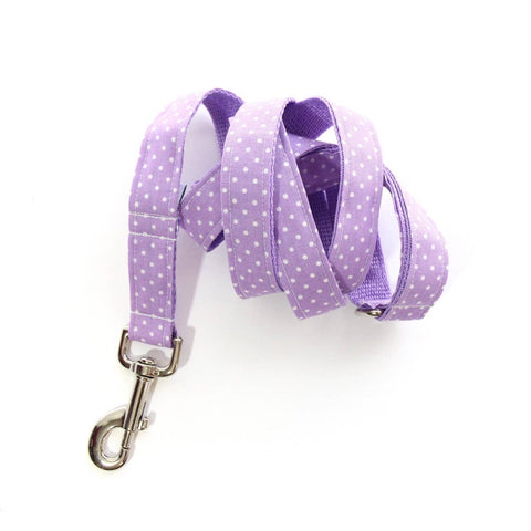 Lavender Polka Dot - Dog Leash