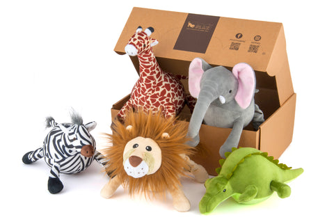 Safari Plush Toy Collection Set