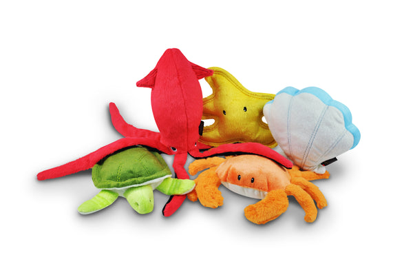 Under the Sea Plush Dog Toy Collection Set