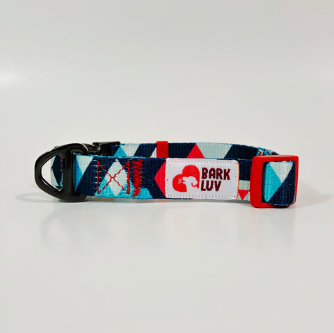 Geometric Iceberg Design - Dog Collar