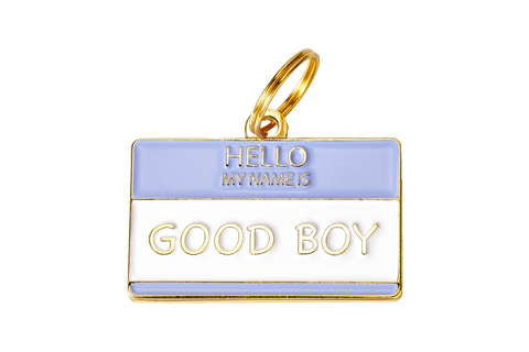 Hello My Name Is Good Boy - Dog Tag