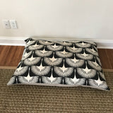 Black Bird Design - Dog Bed Cover