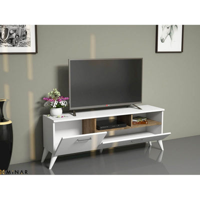 Meuble TV scandinave Sinba - Blanc