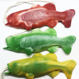 Pack of 3 Bass Fish Soap on a Rope, Stocking Stuffers
