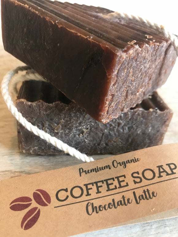 Coffee Soap, Organic Soap, Soap on a Rope, Coffee Gifts, Chocolate