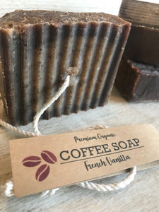 French Vanilla, Coffee Soap, Coffee Gifts, Organic Soap Bar, Handmade Soap, Rope Soap Co., Soap on a Rope