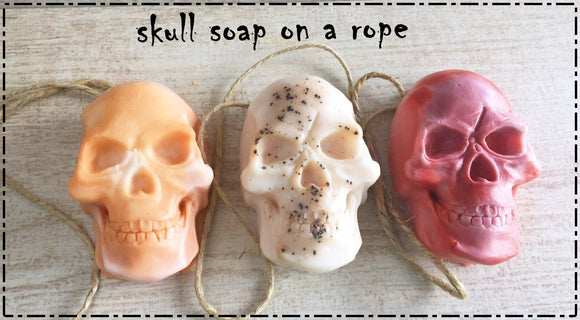 Skull Soap on a Rope