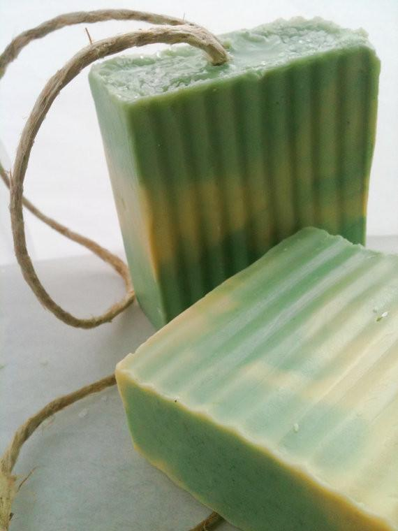 Lime Orange Oil Rope Soap Bar