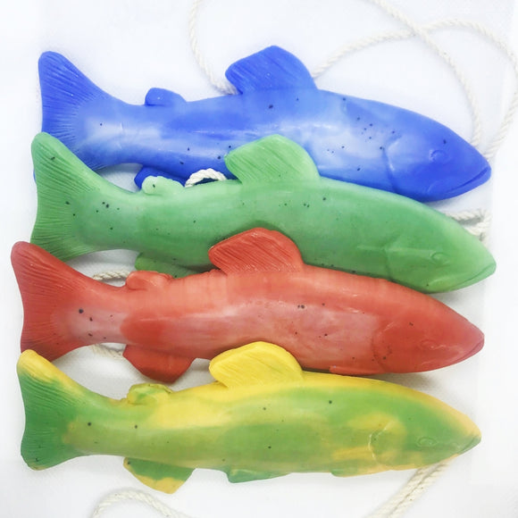Fish Soap Grab Bag - Receive 4 Trout Soap on a Rope at a Discount