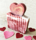 LOVE Soap - Limited Edition Valentine Soap - Lavender Peppermint Essential Oils