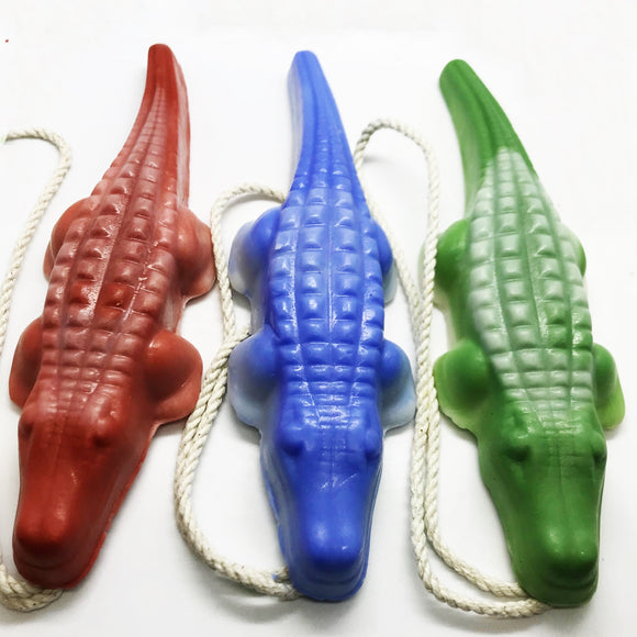 Alligator Soap 3 Pack - Receive Three Assorted Gator Soaps on a Rope