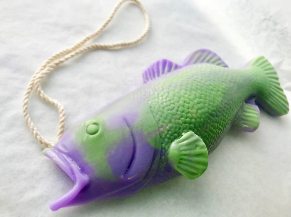 Purple Bass Soap on a Rope