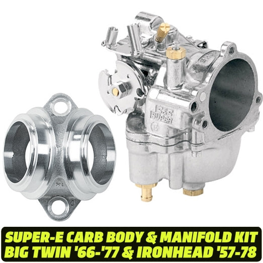 S&S Super E Carburetor Assembly KIT #11-0420 & #16-1200 : BT '66-'77 & XL '57-'78