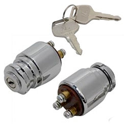 IGNITION KEY SWITCH / UNIVERSAL CHROME FINISH