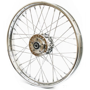 "WHEEL 21"" x 2.15"" Front Wheel 40 Stainless Spokes Single or Dual Disc"