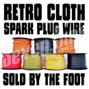 7MM IGNITION WIRE RETRO CLOTH COPPER CORE  / CHOOSE COLOR / BY THE  FOOT