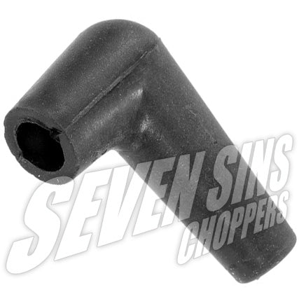 BLACK BOOT 90 ANGLE 7mm Ignition Spark Plug Boot