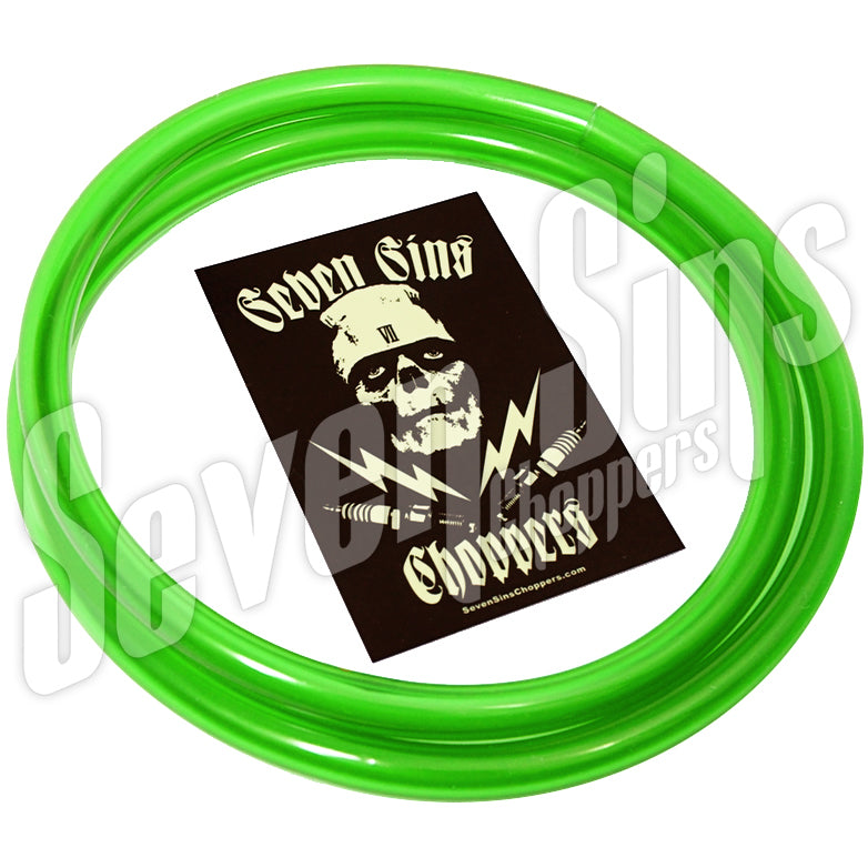 "FUEL LINE High Octane Green 1/4"" ID or 3/8"" ID"