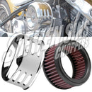 Air Cleaner - K&N Full Kit Louvered Chrome Cover - SUPER E/G & CV