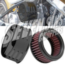 Air Cleaner - K&N Kit Gloss Black for SUPER E/G & CV