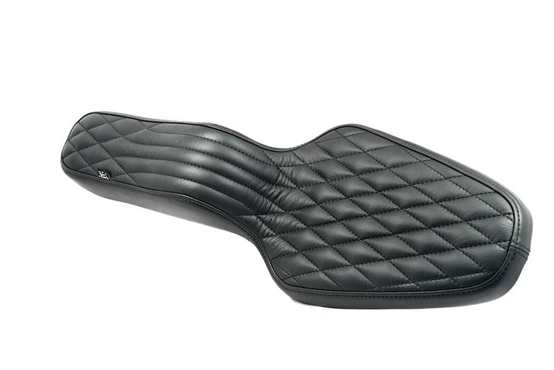 King Cobra Seat - Black Diamond: 82-03 Sportster