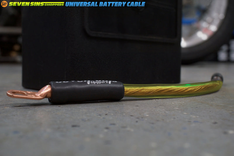 SEVEN SINS UNIVERSAL 4 GAUGE BATTERY CABLE YELLOW : SEMI TRANS GHOST JACKET : 16MM