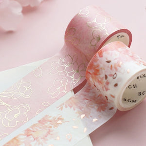 BGM Special-foil Stamped Cherry Blossom Thin Roll