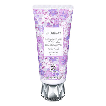 Jill Stuart Everyday Bright UV Protector Tone Up Lavender White Floral