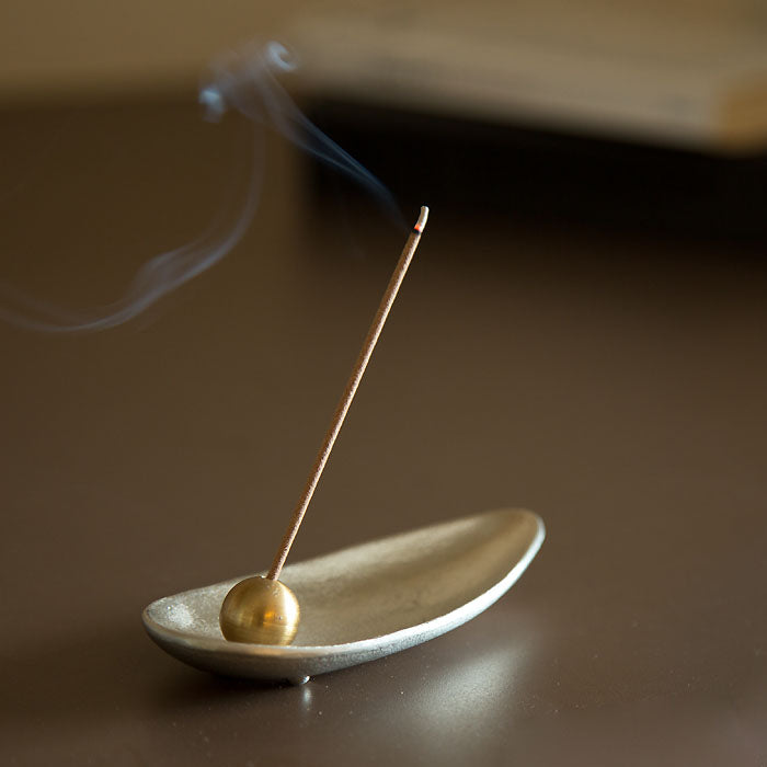 Nousaku Incense Burner Set - Bamboo Leaf