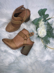 Camel Braided Bootie