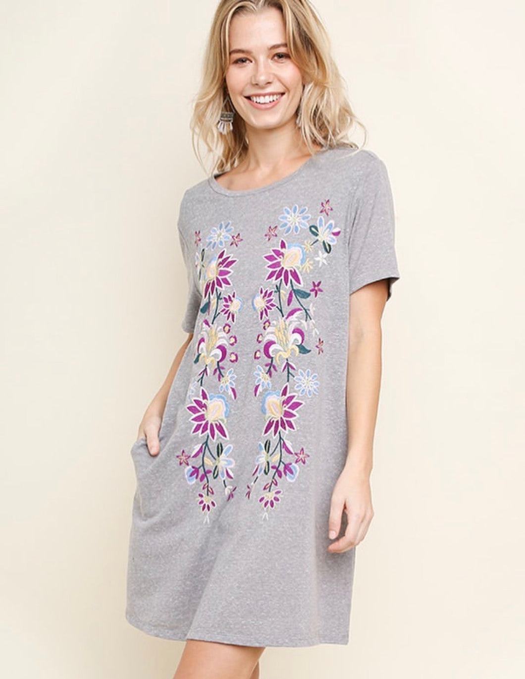 Sweet Springtime T-Shirt Dress