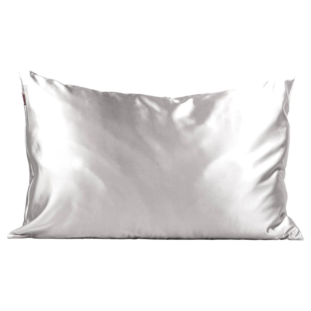 Grey Satin Pillowcase