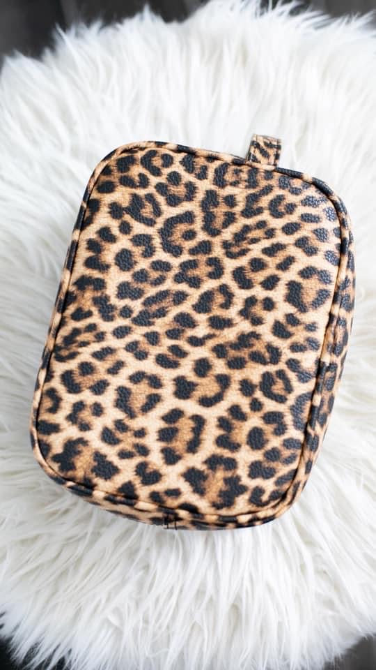 Glamorous Life Cosmetic Bag - Leopard