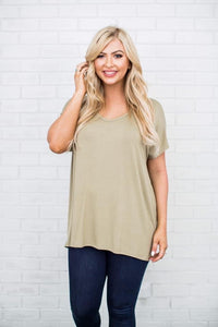 Less Is More Tee - Olive
