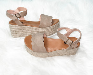 Taupe Me Away Wedge