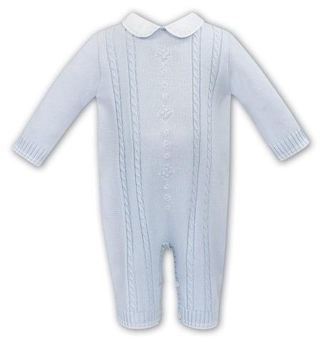 Blue Sweater Boy Romper