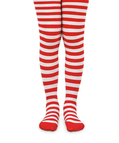 Red and White Stripe Tights