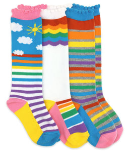 Rainbow Knee High Socks 1 Pair