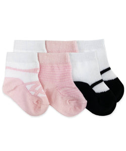 Ballet Slipper Socks 3Pk